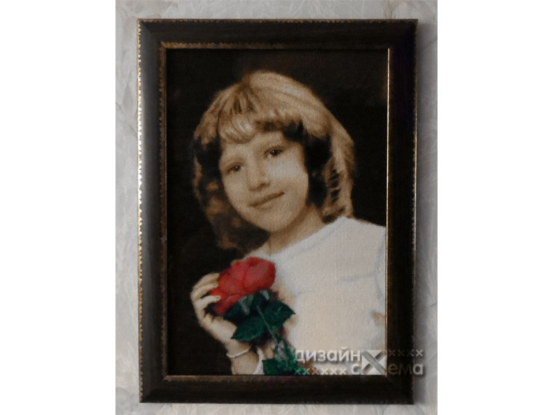 Пример вышивки со старого снимка